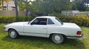 mercedes blk mercedes 350sl 1972 60k white blk
