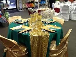 emerald green table runners table runners and napkins duchess satin emerald linen with a sequin