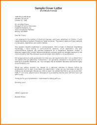 cover letter for electrical engineer fresh graduate 28 images
