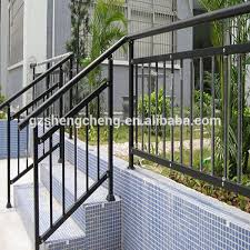 Outdoor Metal Handrails Steel Pipe And Tube Outdoor Metal Stair Railing Guangzhou Supplier