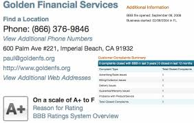 financial services phone number see golden financial services customer reviews complaints