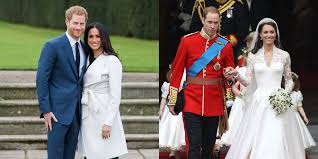 william and kate prince harry and meghan markle s wedding compared to prince william