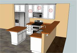 Sketchup Kitchen Design Simple Draw Kitchen Cabinets And The Design Of To Decorating Ideas