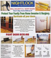 How To Make Patio Doors More Secure by Nightlock Security Lock Door Barricade Brushed Nickel Door Lock