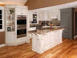 white kitchen with distressed cabinets rustic white kitchen cabinets ideas modern design from