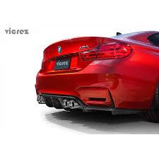 red bmw m4 bmw m4 f82 f83 m3 f80 2014 2017 vz3 carbon fiber rear diffuser