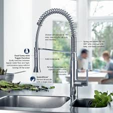 cleaning kitchen faucet grohe k7 semi pro single handle pull out sprayer kitchen faucet in