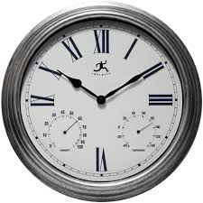 gorgeous garden wall clock thermometer 13 atomic wall clock with
