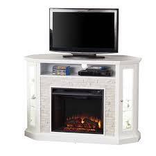 Electric Fireplace Tv Stand Southern Enterprises Redden Corner Electric Fireplace Tv Stand