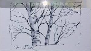 tips and techniques for drawing better tree trunks and branches