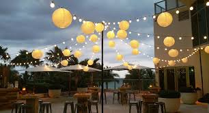 decoration awesome outdoor decor with paper lantern string lights