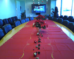 decorating the boardroom for our office holiday party my 2
