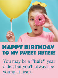 to my sweet sister funny birthday card birthday u0026 greeting