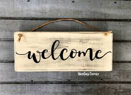 country home decor signs wood welcome sign rustic home decor welcome sign welcome home