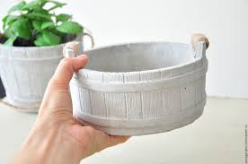 Concrete Planter Buy Concrete Planter Bucket With Handles Provence Country On