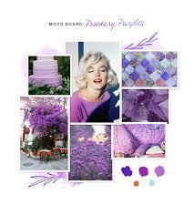 shades of purples powdery purples mood board