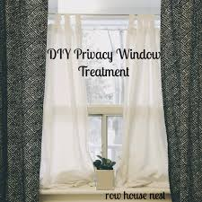 Bathroom Window Privacy Ideas by Simple Bedroom Privacy Window Treatment