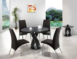 Best  Black Round Dining Table Ideas On Pinterest Dining - Contemporary glass dining table and chairs