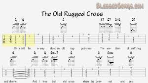 Song Lyrics Old Rugged Cross Guitar Hymns The Old Rugged Cross Tablature And Chords Youtube