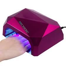 36w led ccfl nail dryer diamond shape curing lamp machine for uv