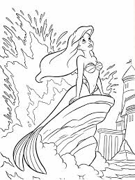 mermaid color page disney mermaid pictures to color little mermaid printable coloring