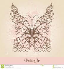 ornate butterfly stock illustration illustration of