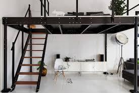 deco chambre lit noir decoration chambres a coucher adultes 13 lit mezzanine en m233tal