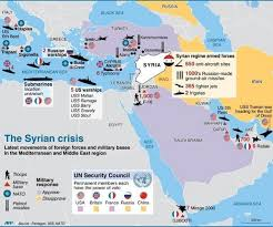 Map Of Syria And Russia Graphic Details Maps Of Military Deployments Around Syria Tony