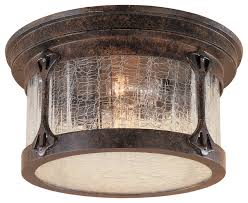 industrial flush mount light joshua marshal chestnut 2 light cast aluminum flush mount finish