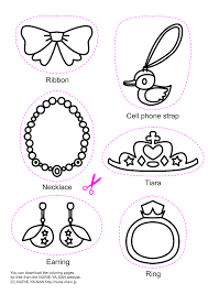 jewelry coloring pages eson me