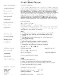 Security Job Resume by Cv For Security Job Resume Cv Cover Letter