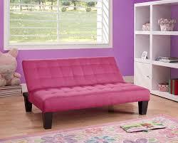 amazon com dhp ariana junior microfiber sofa futon couch pink