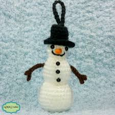 free tiny snowman ornament crochet pattern amk crochet