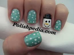 snowman christmas nail design polishpedia nail art nail guide