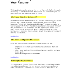 resume exles objectives statement resume amazing objective statements sle career make goal for
