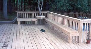 Decks With Benches Built In Deck Planters U0026 Benches Residential And Commercial Fence