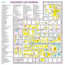 Oregon Campus Map by University Of Arizona Campus Map My Blog