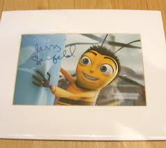 signed jerry seinfeld barry bee dreamworks bee movie film