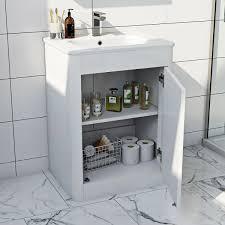 Floor Mounted Vanity Units Bathroom Mode Carter Ice White Floor Mounted Vanity Unit And Basin 600mm