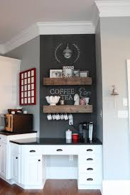 kitchen coffee bar ideas desk turned coffee bar kitchen desks paper clutter and coffee