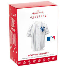 new york yankees jersey ornament keepsake ornaments hallmark