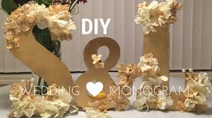 diy wedding decorations wooden monogram set tutorial youtube