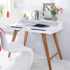 Office Desk Uk Bloom Scandinavian Office Desk In White Funique Co Uk