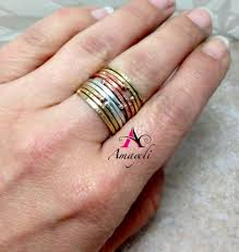 midi ring set stackable rings mixed metals midi rings stacking rings copper
