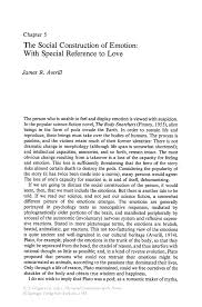 sample essay love the social construction of emotion with special reference to love inside