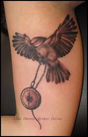 bird tattoo on arm bird pocketwatch arm tattoo linntheres oslo tattoo