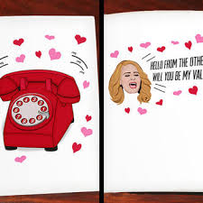 hello valentines day adele hello valentines day greeting card from nostalgiacollect on
