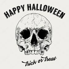 vintage black and white halloween images halloween greeting label hand drawn skull vintage typography