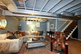 Unfinished Basement Ceiling by Try Painting Basement Ceiling Instead Of Ceiling Tiles Or Drywall
