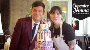 behind the scenes making tom daley u0027s wedding cake cupcake jemma